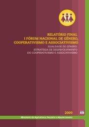 relatório final i fórum nacional de gênero, cooperativismo ...
