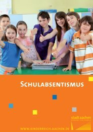 Schulabsentismus - Stadt Aachen