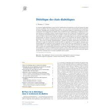 Diététique Des Etats Diabétiques