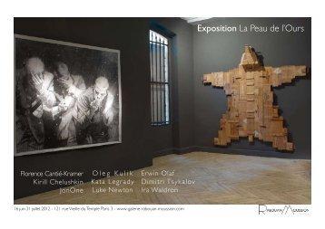 Exposition La Peau de l'Ours - Galerie RABOUAN MOUSSION