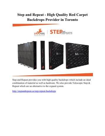 Step and Repeat - High Quality Red Carpet Backdrops Provider in Toronto