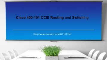Cleared 400-101 ccie exam test with examgood valid dumps questions