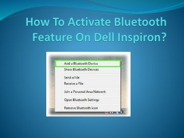 How To Activate Bluetooth Feature On Dell Inspiron