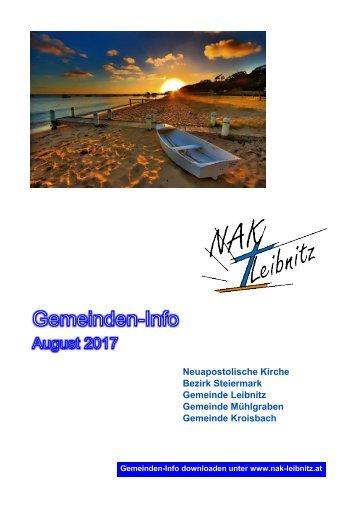 Gemeindeinfo August 2017