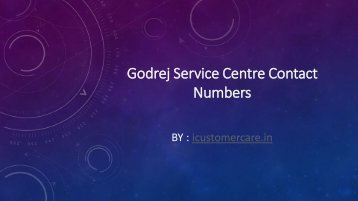 Godrej Service Centre Contact Numbers
