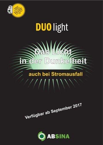 Absina Katalog Duo Light mit Netzausfall Elektronik 2017