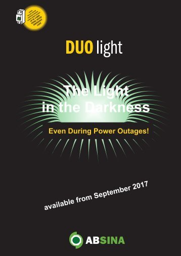 Absina Catalogue Duo Light 2017 english version