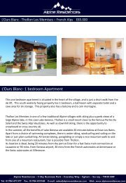 L'Ours Blanc- 1 bedroom Apartment - France Property Shop