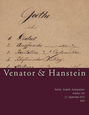 katalog 124 als pdf - Venator & Hanstein