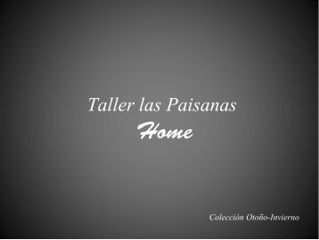 Catálogo Taller las Paisanas- Home