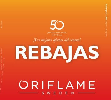 Catálogo Oriflame REBAJAS hasta 16 de Agosto 2017