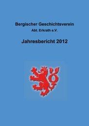 Jahresbericht des BGV Erkrath 2012 (PDF)