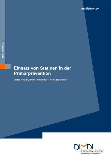 Einsatz von Statinen in der Primärprävention - DIMDI