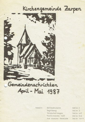 Gemeindebrief April - Mai 1987