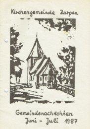 Gemeindebrief Juni - Juli 1987