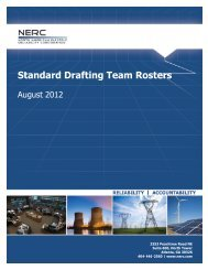 Standard Drafting Team Rosters – August 2012 - NERC