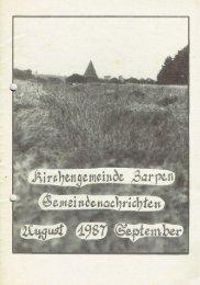 Gemeindebrief August - September 1987