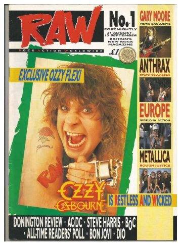 RAW magazine  No  1,  31 august - 13 September 1988