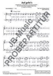 Auf gehts (für Gemischten Chor SATB a cappella)