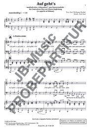 Auf gehts (für Gemischten Chor SATB mit Klavierbegleitung)