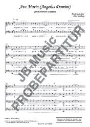 Ave Maria  (Angelus Domini) für Männerchor TTBB