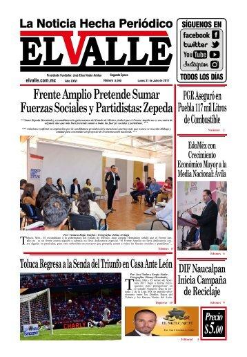Edición del día Lunes 31 de Julio
