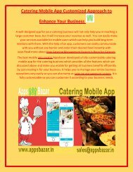 Catering Mobile App Customized Approach to Enhance Your Business