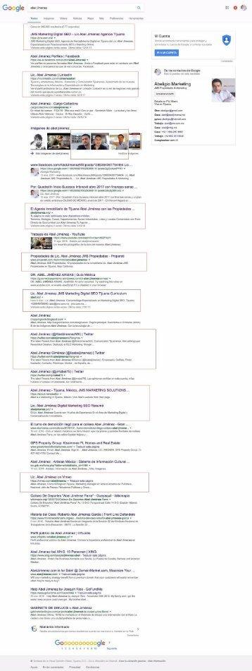 Abel Jimenez Termino de Busqueda Analisis Google Mexico Branding Personal