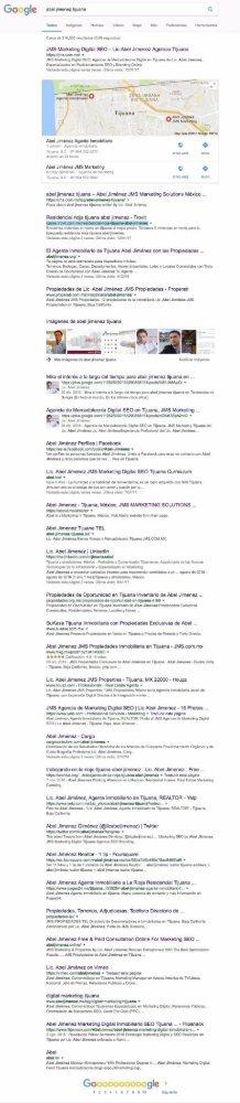 Abel Jimenez Tijuana - SEO -Termino de Busqueda - Keyword - Google Mexico 24-enero-19-horas-pacifico