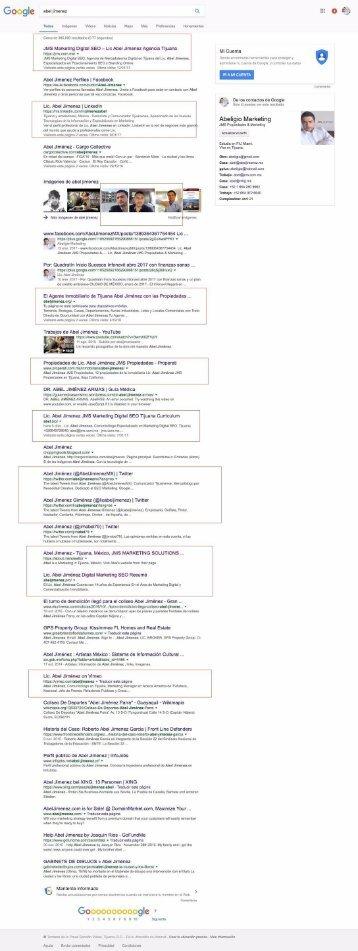 SEO Abel Jimenez Termino de Busqueda-Analisis-Google-Mexico-Branding-Personal