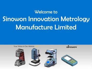 Get Different Types of Optical Measuring Instruments from Sinowon