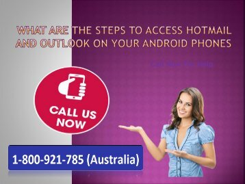 Access Hotmail and Outlook On Android Phone 1-800-921-785