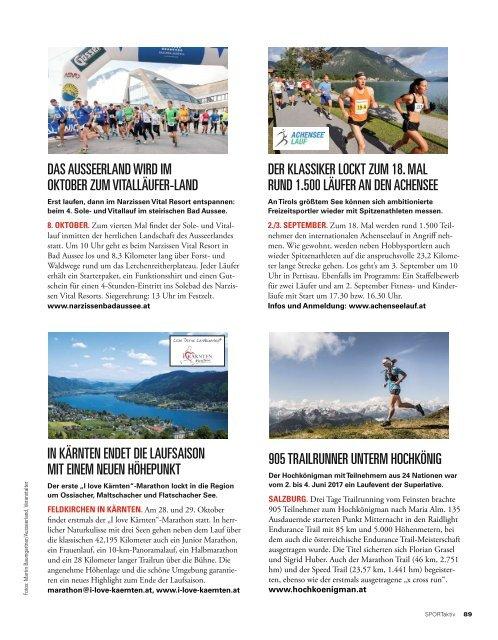 SPORTaktiv Magazin August 2017