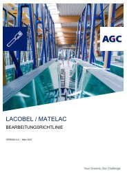 Bearbeitungsrichtlinie Lacobel Matelac (DE)