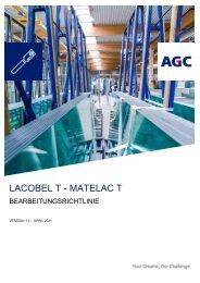 Bearbeitungsrichtlinie Lacobel T Matelac T (DE)