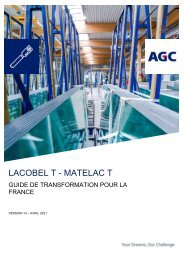 Guide de transformation Lacobel T Matelac T (FR)