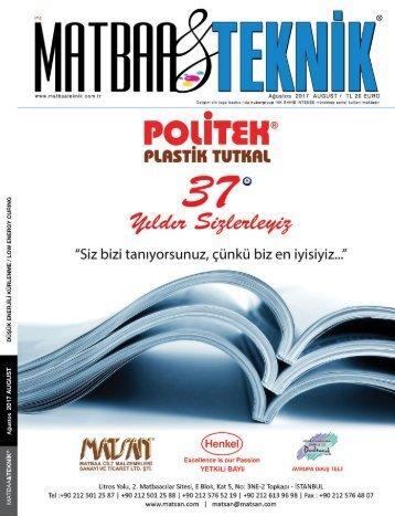 Matbaa Teknik Dergisi Ağustos 2017 Sayısı