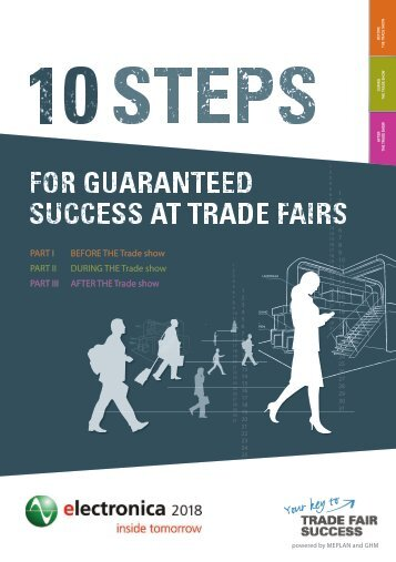 10 steps for guaranteed success at trade fairs // electronica 2018