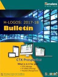 H-LOGOS Bulletin & CTX Prospectus (Zenith, Zera & Hospital)