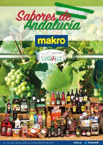 makro ofertas sabores de Andalucia hasta 29 de Agosto 2017