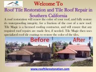 Roof Restoration Orange County, CA