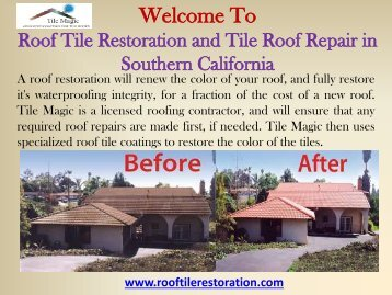 Roof Restoration Orange County, CA