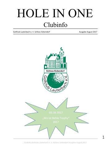 Clubinfo August 2017