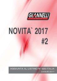 Giannelli - Nuovi Prodotti - Luglio 2017