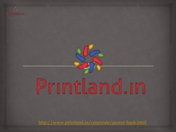 Buy Promotional and Corporate Power Banks Online in India - PrintLand.in