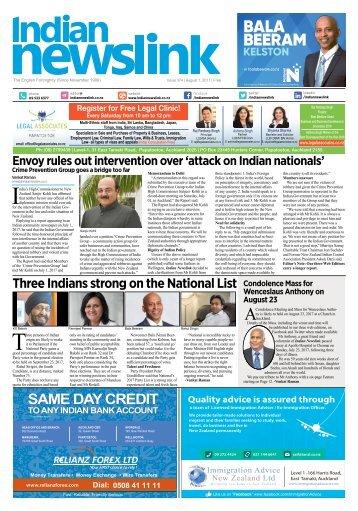 Indian Newslink August 1st 2017