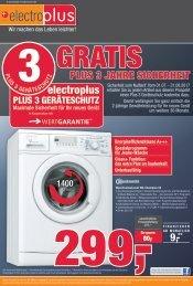 Aktueller Prospekt electroplus - GRATIS PLUS 3 JAHRE SICHERHEIT
