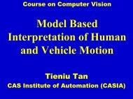 Model Based Interpretation of Human and Vehicle Motion