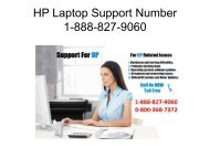 HP Laptop Support Number 1-888-827-9060
