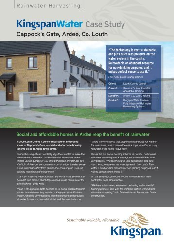 Housing Case Study Social and affordable homes ... - Kingspan Water
